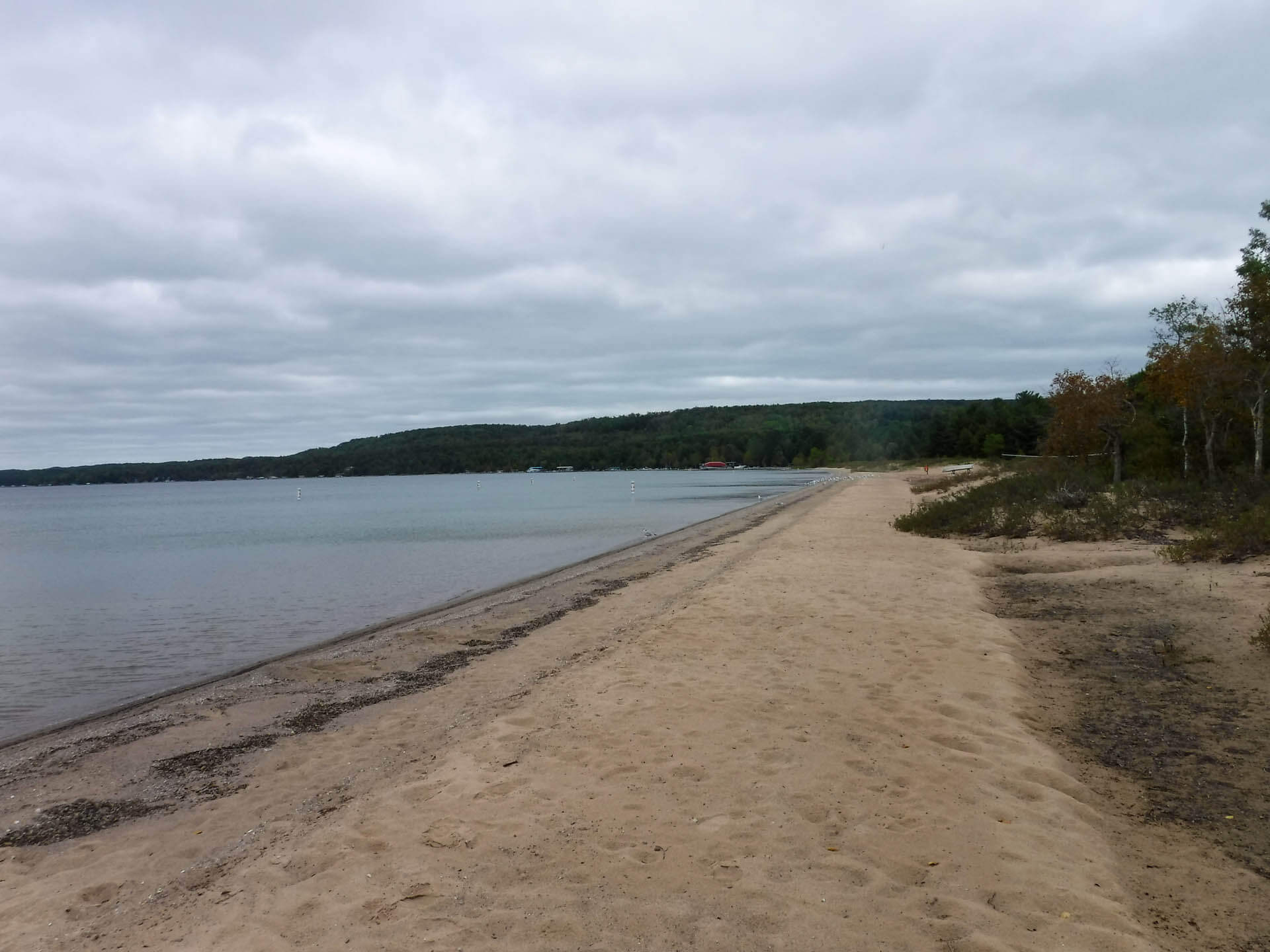 main beach at Young State park